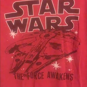 Mens Medium Red Star Wars Shirt